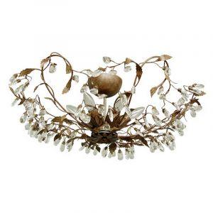 Klassiek design plafondlamp Sidney II, roestkleurig