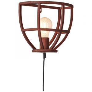 Industriële wandlamp Esmee, Roestkleurig, met schakelaar