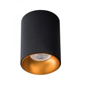Zwart met gouden opbouwspot Selin, aluminium