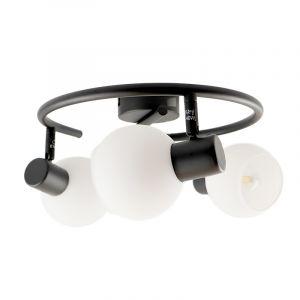 Moderne ronde plafondspot Oliver, zwart met wit, 3L