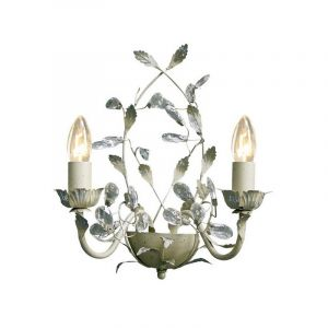 Jeftha wandlamp creme, landelijk design
