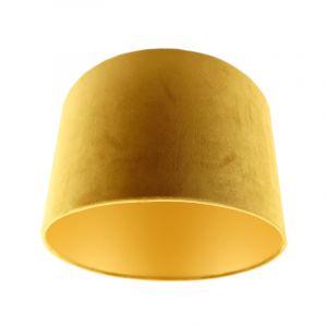 Okergele/gouden velours lampenkap Madelyn, 30 cm