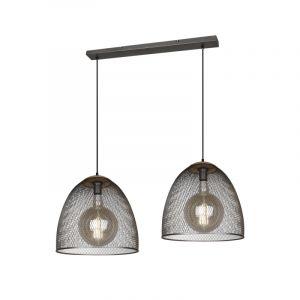 Vintage hanglamp Fadil, nikkel