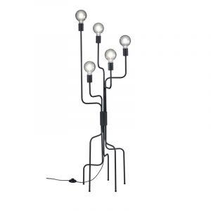 Moderne vloerlamp Patric, zwart