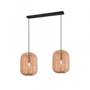 Vintage hanglamp Elham, zwart