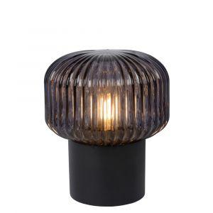 Zwarte Tafellamp Jany, glas