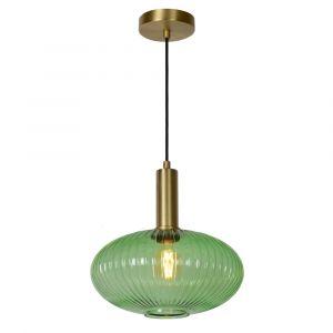 Groene hanglamp Maloto, glas