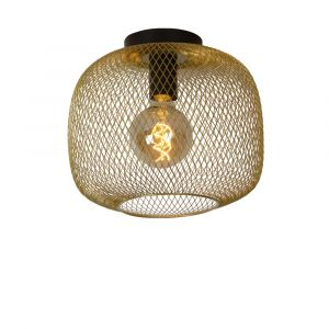 Gouden plafonniere Mesh, staal