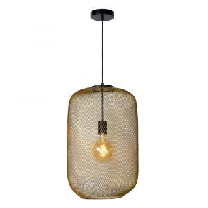 Gouden hanglamp Mesh, staal