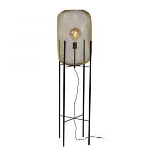 Gouden vloerlamp Mesh, staal