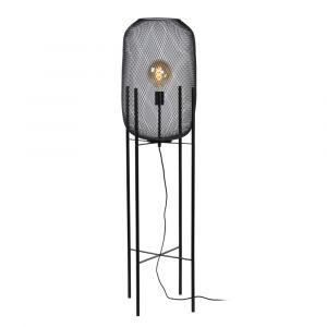 Zwarte vloerlamp Mesh, staal