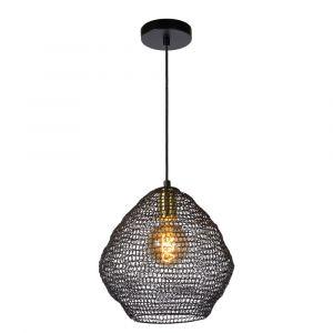 Zwarte hanglamp Saar, metaal