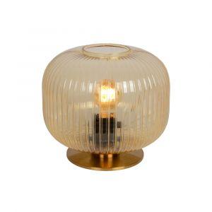 Amberkleurige Tafellamp Virgil, glas