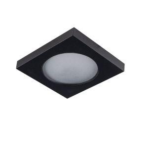 Badkamer inbouwspot Elio, zwart, IP44, vierkant
