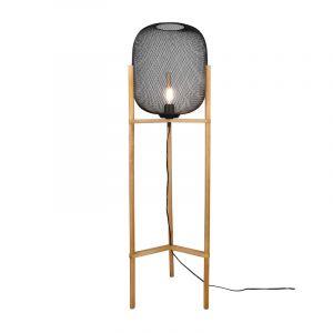 Gaas vloerlamp Cristel, zwart, modern