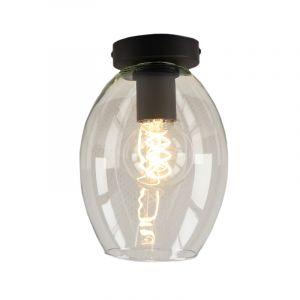 Transparante design plafondlamp Giada, Ovaal glas