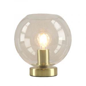 Design gouden glazen tafellamp Maury,transparante glazen bol