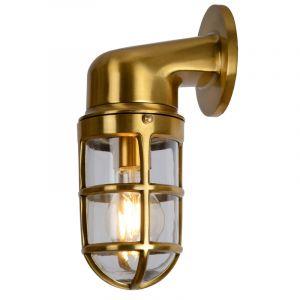 Gouden buitenlamp Dudley, aluminium, IP65