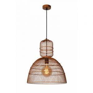 Bruine hanglamp Gasset, metaal