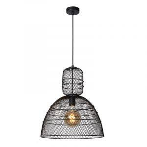 Zwarte hanglamp Gasset, metaal