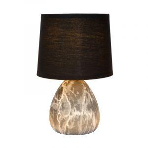 Zwarte Tafellamp Marmo, keramiek, met aan/uit schakelaar