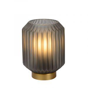 Grijze Tafellamp Sueno, glas