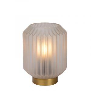 Witte Tafellamp Sueno, glas