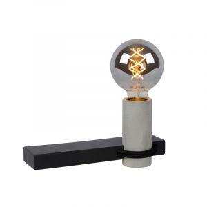 Zwarte wandlamp Tanner, aluminium, met schakelaar