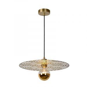 Gouden hanglamp Olenna, staal