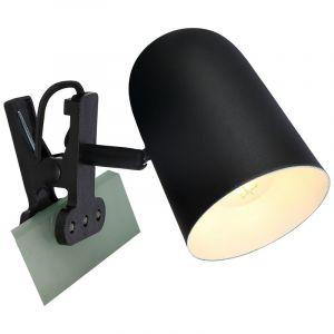 Zwarte klemlamp Charita, Metaal