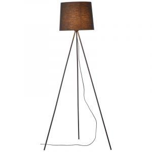 Moderne driepoot vloerlamp Jenifer, Metaal, met Aan/uit schakelaar op het snoer