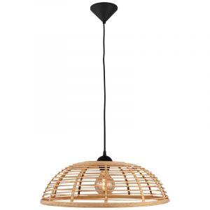 Landelijke hanglamp Deacon, Hout