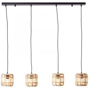 Landelijke eettafel hanglamp Deacon, Metaal