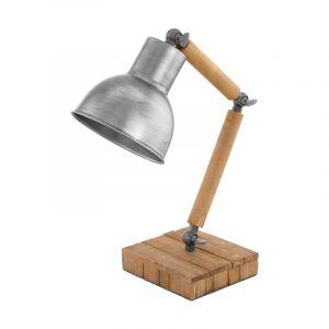 Bruine klassieke tafellamp, Vallery, hout