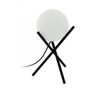 Zwarte klassieke tafellamp, Made, staal
