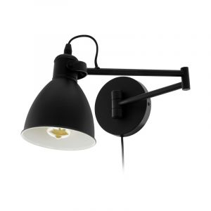 Zwarte klassieke wandlamp, Tjarco, staal