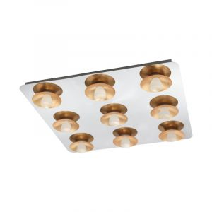 Chromen retro plafonniere, Wieke, staal, 50w 3000K (warm wit) LED