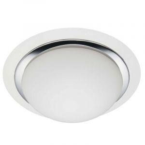 Mat witte plafondlamp Udo, Glazen bol