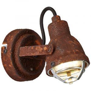 Industriële wandlamp Abyga, roestbruin