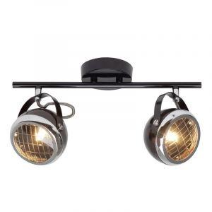 Klassieke plafondlamp Amber, Blinkend Zwart, Chroom