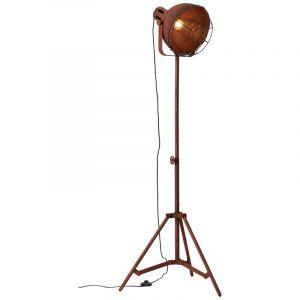 Landelijke staande lamp Vera, Roest