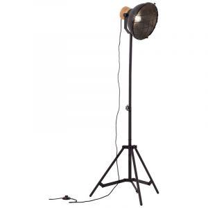 Industriële staande lamp Zeynep, Zwart steen