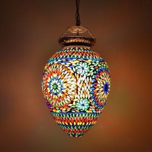 Gekleurde oosterse hanglamp Isa, mozaiek