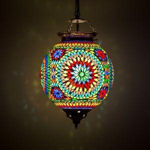 Gekleurde mozaiek hanglamp Aziza, mozaiek