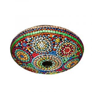 Gekleurde mozaiek plafondlamp Louay, mozaiek,metaal