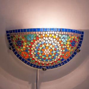 Gekleurde mozaiek wandlamp Haja, mozaiek