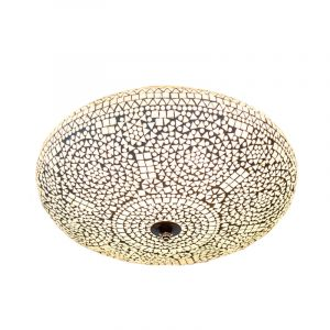 transparant oosterse plafonniere Annas, mozaiek,metaal