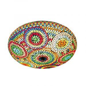 Gekleurde oosterse plafonniere Annas, mozaiek,metaal
