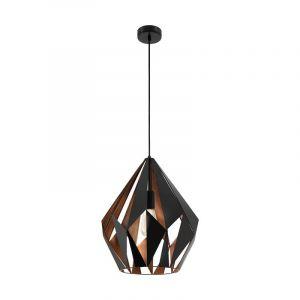 Moderne hanglamp Dylan Staal Zwart/Koper