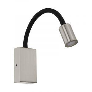 Cafer wandlamp - Nikkel-Mat Zwart